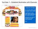youtube 1 establish destination with channels