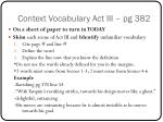 context vocabulary act iii pg 382