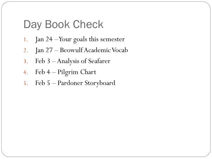 Day Book Check
