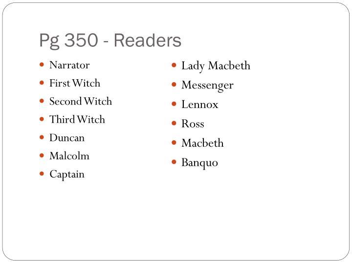 Pg 350 - Readers
