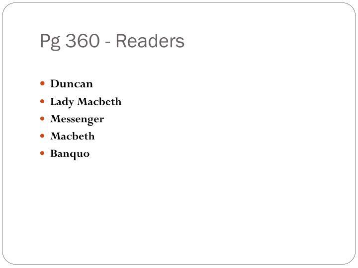 Pg 360 - Readers