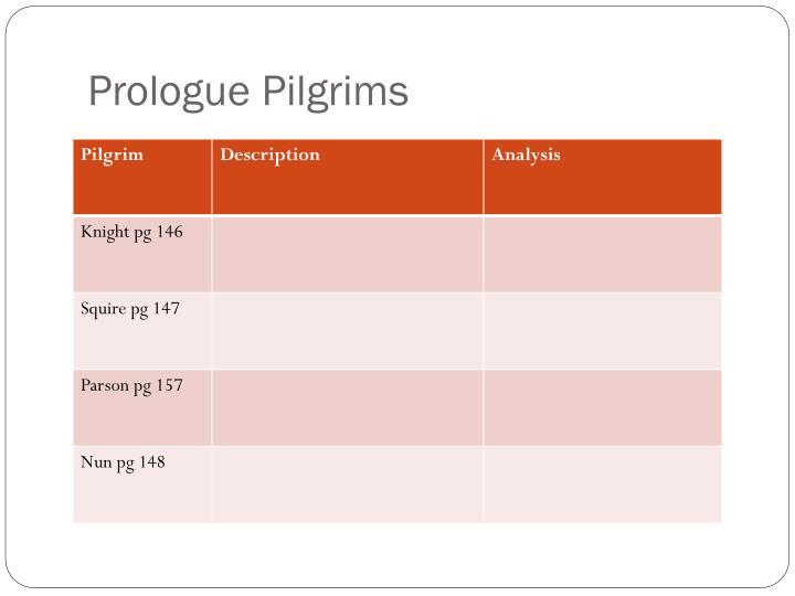 Prologue Pilgrims