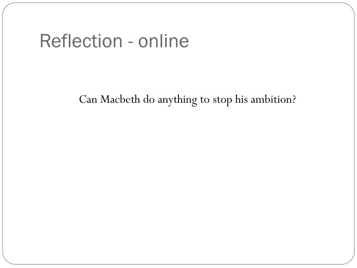 Reflection - online