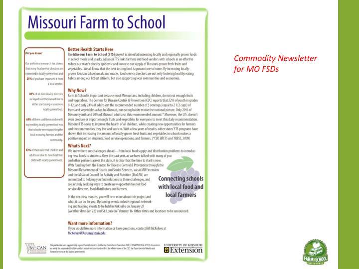Commodity Newsletter for MO FSDs