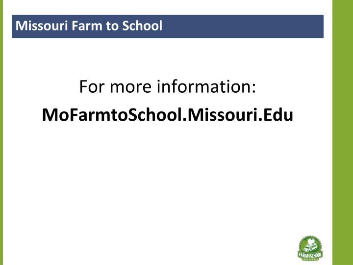 Missouri Farm to School