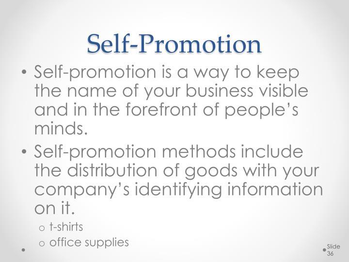 Self-Promotion