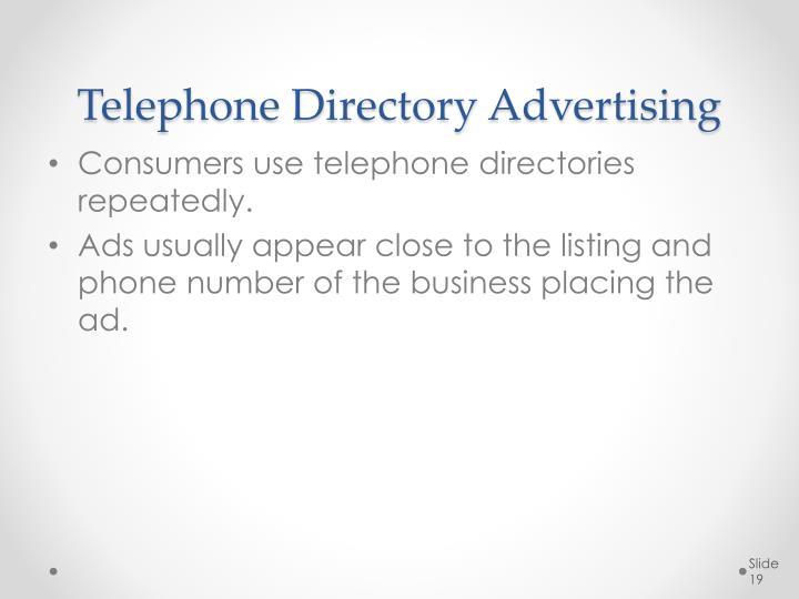 Telephone Directory Advertising