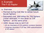 4 example the f 22 raptor