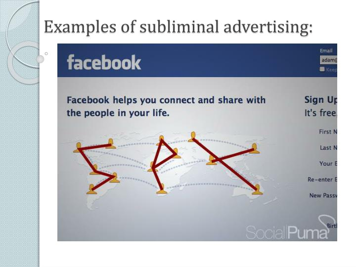 Examples of subliminal advertising: