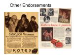 other endorsements