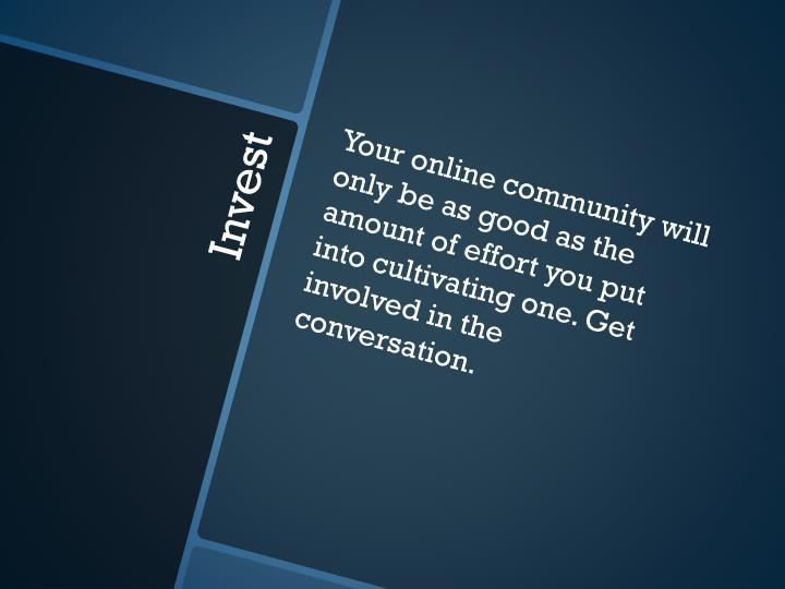 Your online community