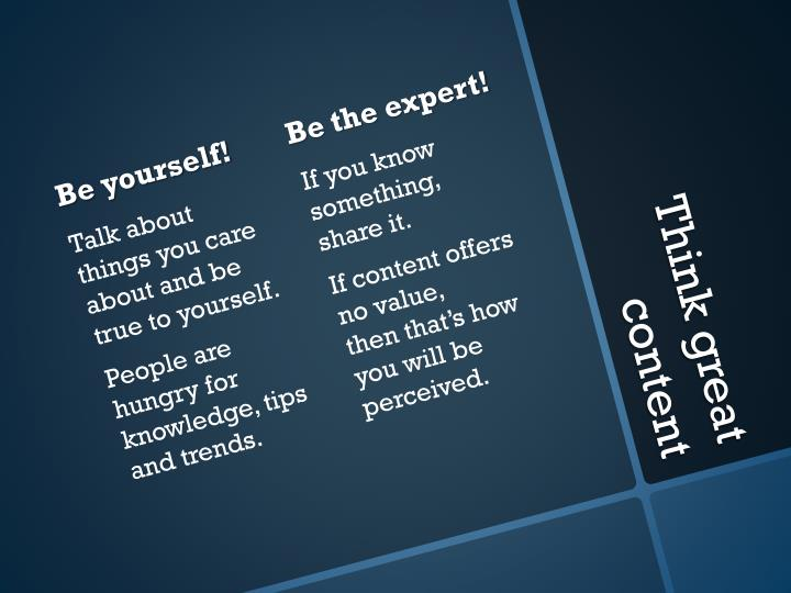 Be the expert!