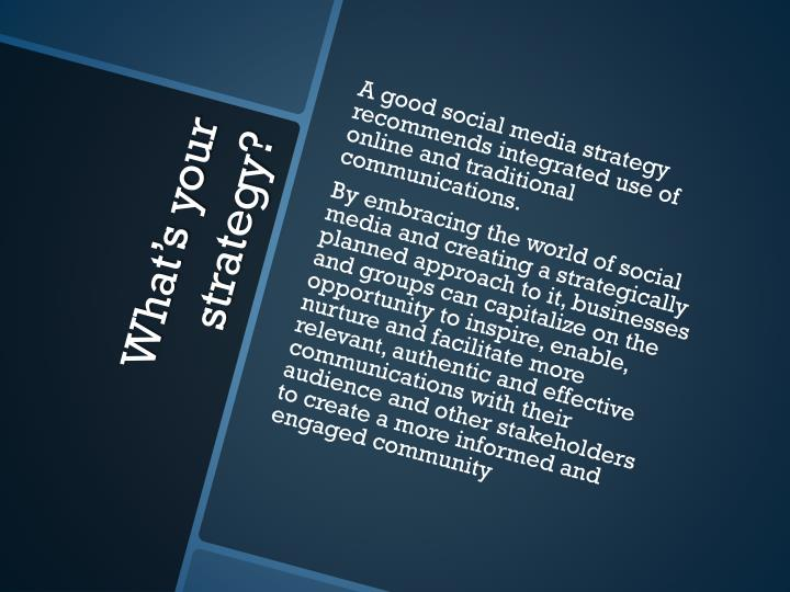 A good social