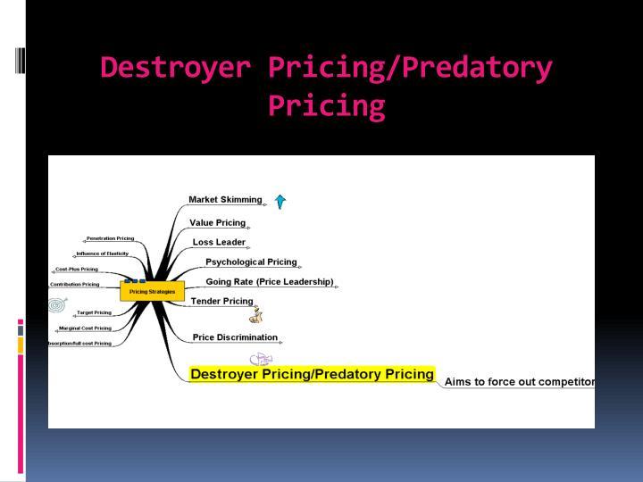 Destroyer Pricing/Predatory Pricing