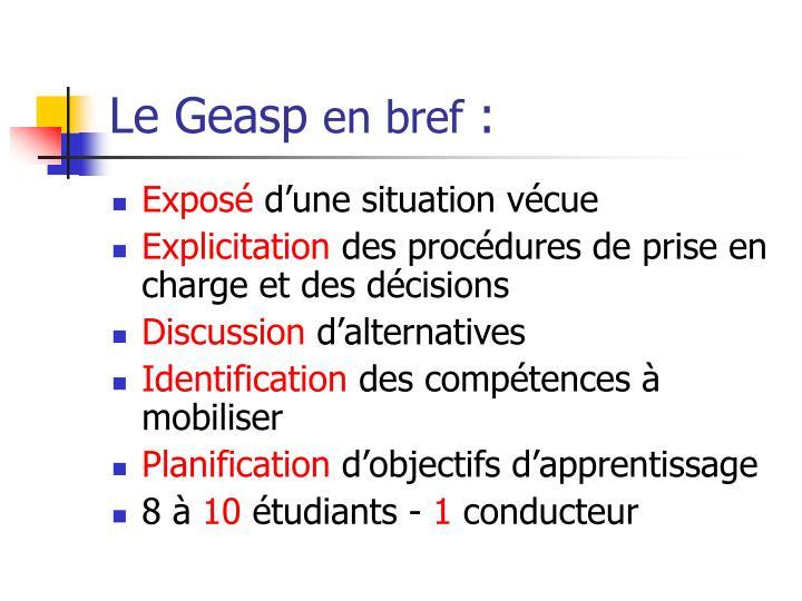 Le Geasp