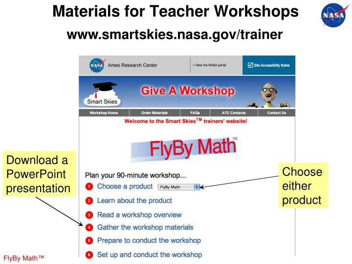 Materials for Teacher Workshops