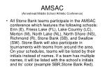 amsac arrowhead middle school athletic conference