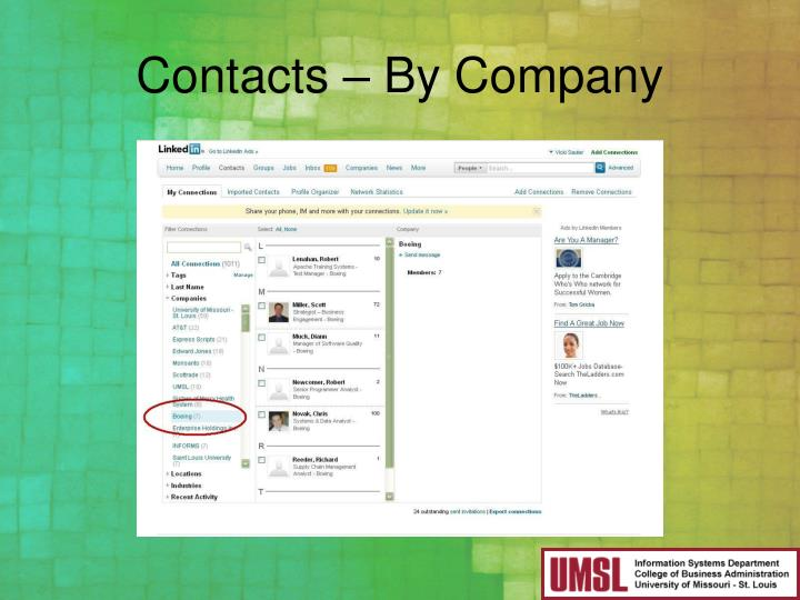 Contacts – By Company