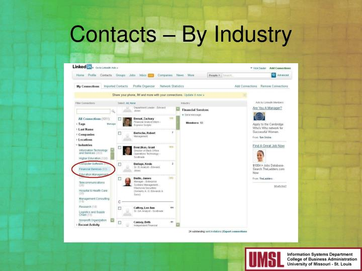 Contacts – By Industry