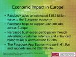 economic impact in europe