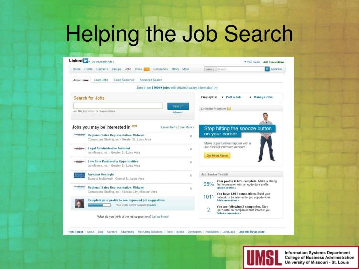 Helping the Job Search
