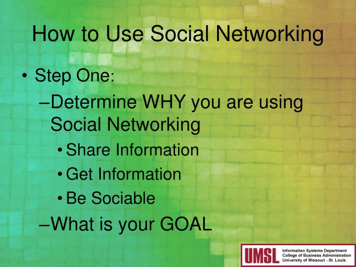How to Use Social Networking
