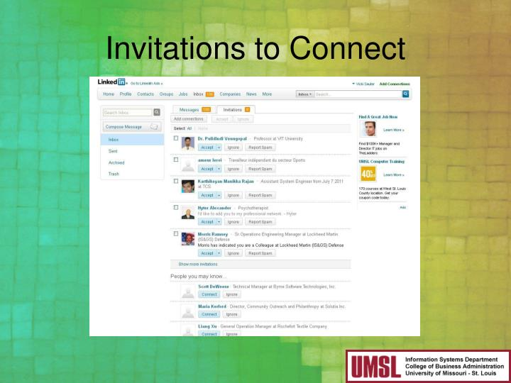 Invitations to Connect
