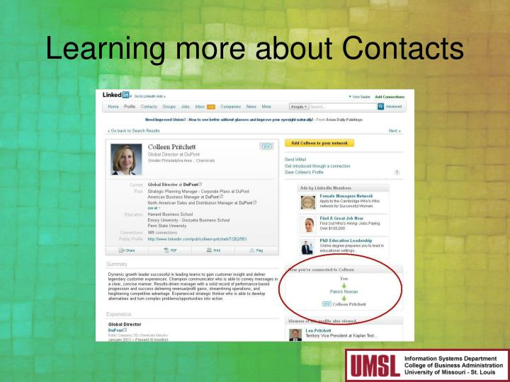Learning more about Contacts