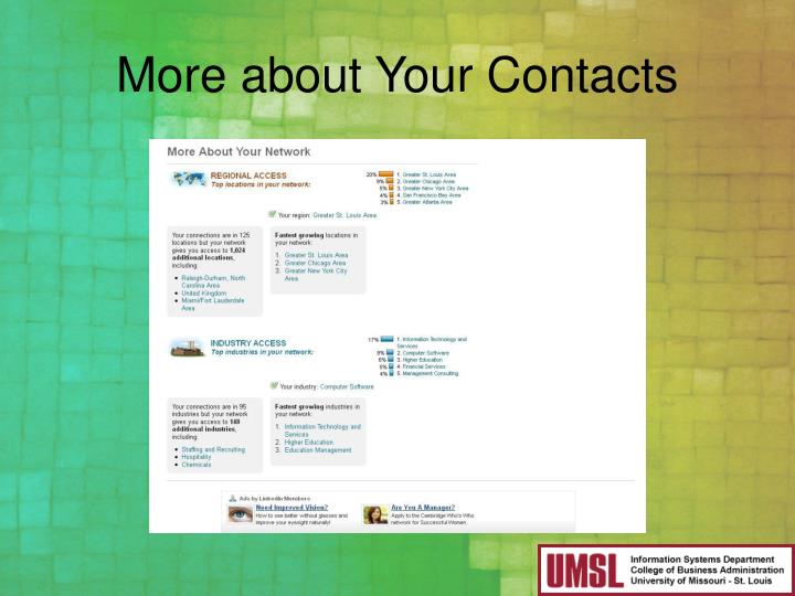 More about Your Contacts