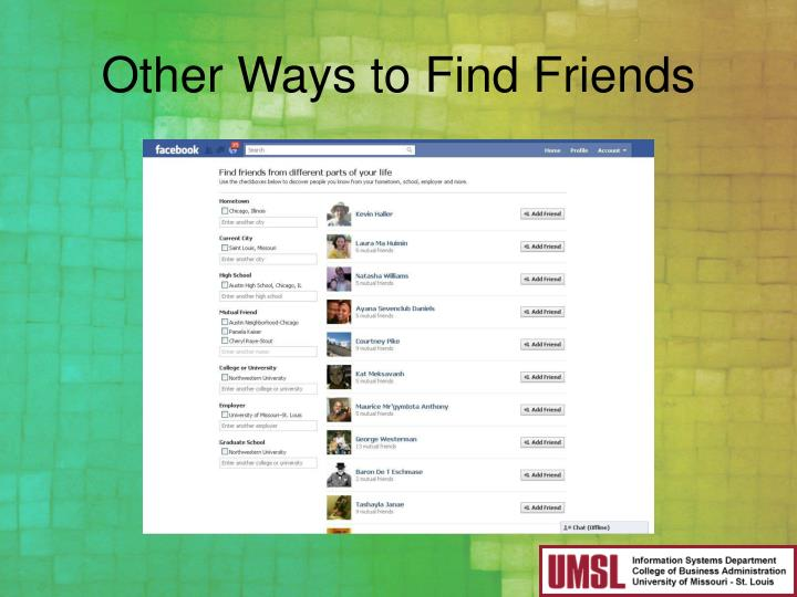 Other Ways to Find Friends