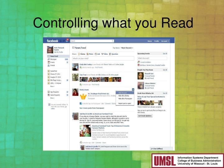 Controlling what you Read