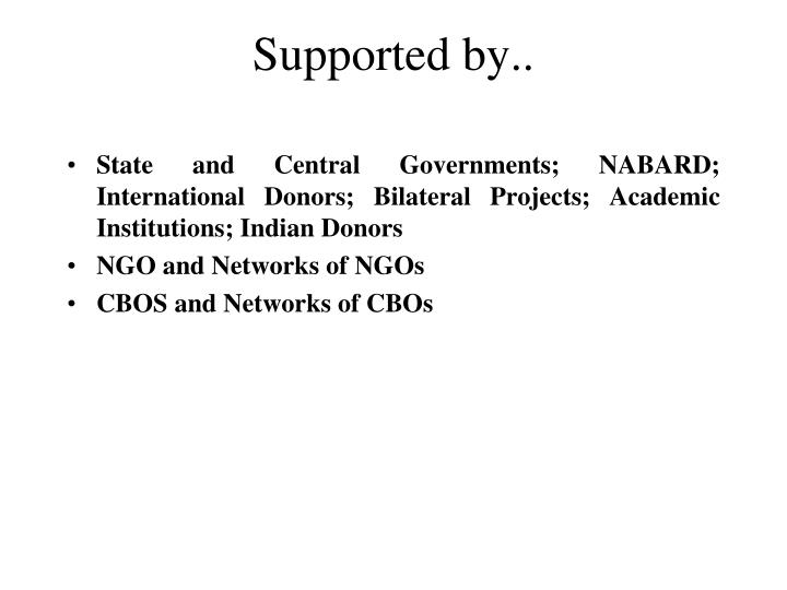 Supported by..