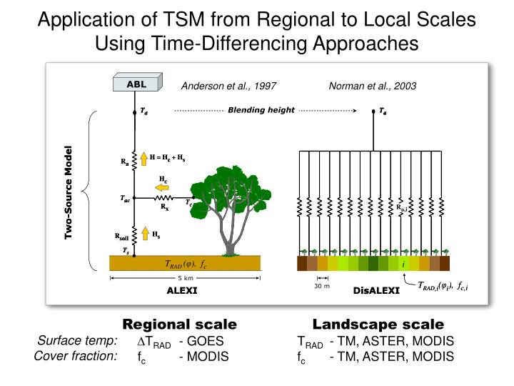 Application of TSM from Regional to Local