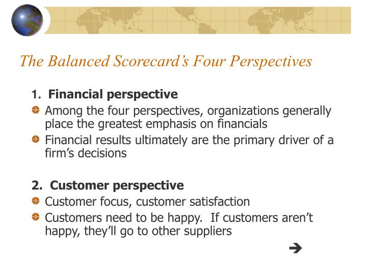 The Balanced Scorecard's Four Perspectives
