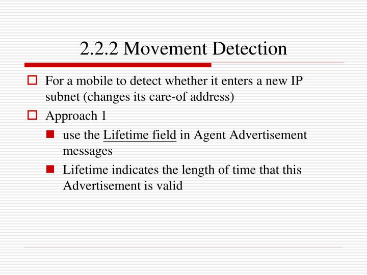 2.2.2 Movement Detection