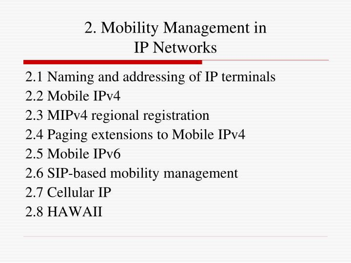 2. Mobility Management in