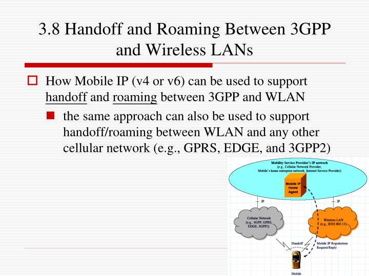 3.8 Handoff and Roaming Between 3GPP and Wireless LANs