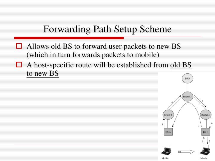 Forwarding Path Setup Scheme