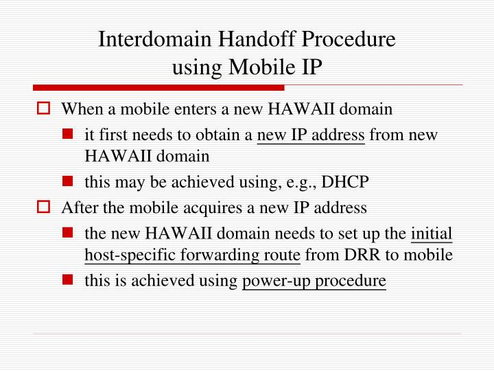 Interdomain Handoff Procedure