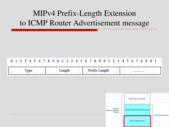MIPv4 Prefix-Length Extension