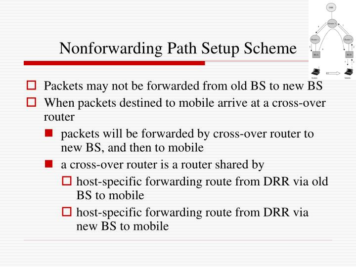 Nonforwarding Path Setup Scheme