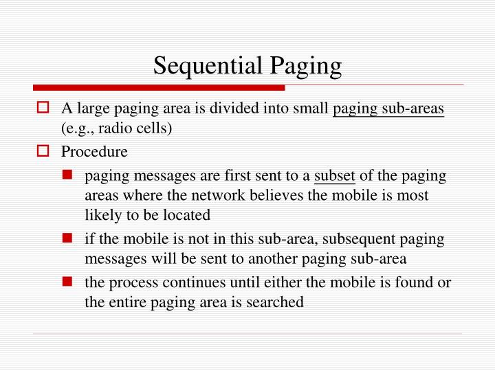 Sequential Paging