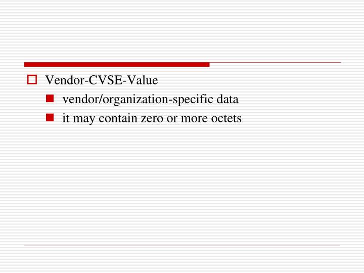 Vendor-CVSE-Value
