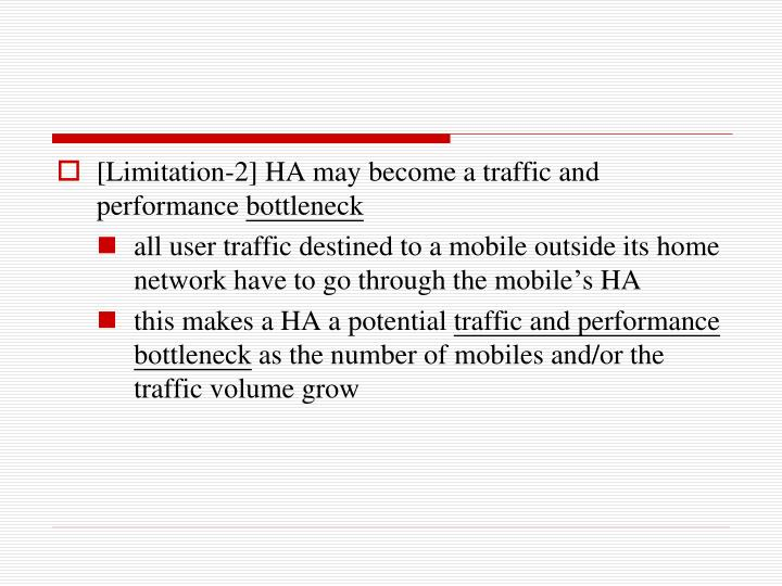 [Limitation-2] HA may become a traffic and performance