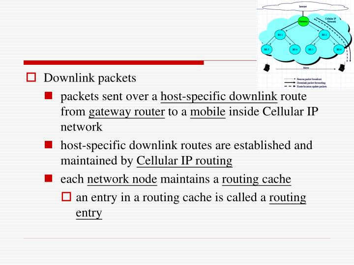 Downlink packets