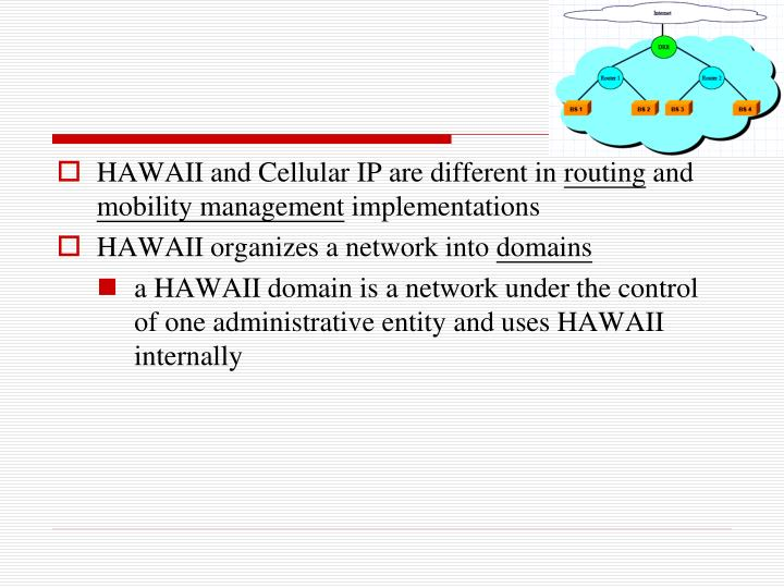 HAWAII and Cellular IP are different in