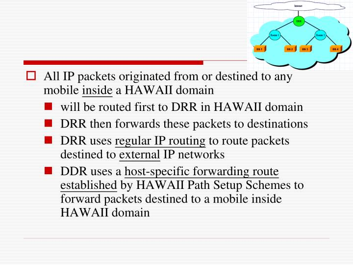 All IP packets originated from or destined to any mobile