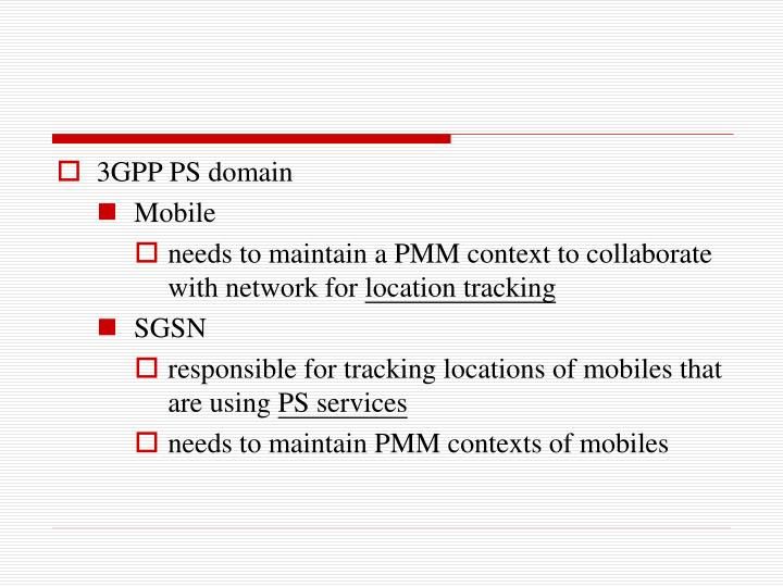 3GPP PS domain