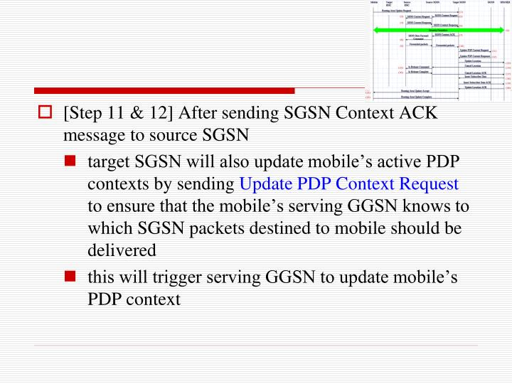 [Step 11 & 12] After sending SGSN Context ACK message to source SGSN