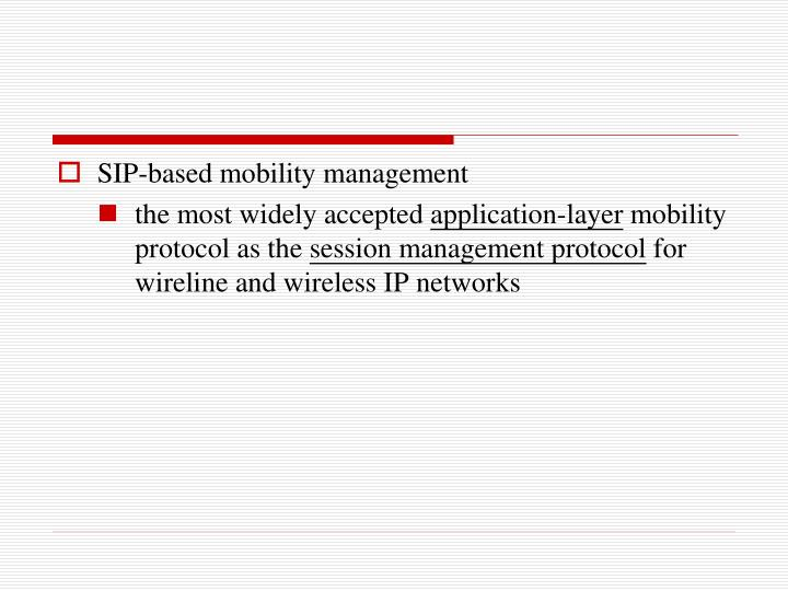 SIP-based mobility management